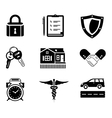Handshake insurance icons vector image