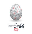 happy easter easter egg with virus texture vector image vector image