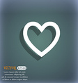 Heart sign icon Love symbol On the blue-green vector image vector image