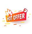 hot offer label modern web banner element vector image vector image