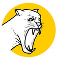 icon panther vector image vector image