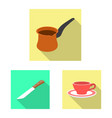 kitchen and cook sign vector image