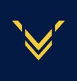 letter v initial logo vector image vector image