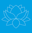 lotus flower icon outline style vector image vector image