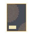 luxury premium cover design with mandala element vector image vector image