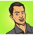 Man listens pop art style vector image vector image