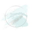 mint green brush stroke luxury design with silver vector image