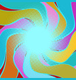 multicolored wavy halfton background vector image