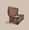 old treasure chest pirate wooden chest vector image