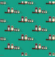 owls family on the branch seamless pattern vector image vector image