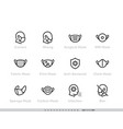 protective medical face mask icon set safety vector image