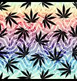 rastafarian grunge hemp leaves vector image vector image