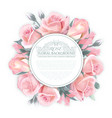 rose wreath template for wedding vector image vector image