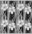 seamless grayscale flower vector image vector image