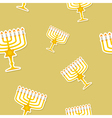 seamless pattern with hanukkah symbol icons vector image vector image