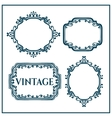 set calligraphic vintage design elements vector image vector image