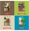 set of coffee cash concept design elements vector image vector image