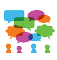 set of colorful transparent speech bubbles vector image