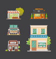 shop store buildings set vector image vector image