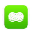 sponge foam icon digital green vector image vector image