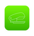 stapler icon green vector image vector image