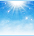 sun burst background with details of blue sky and vector image vector image