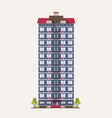 tall city panel building with many floors built in vector image vector image