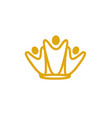 team king logo vector image vector image