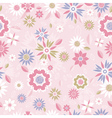 texture of many different flowers on pink backgrou vector image vector image