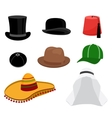 Traditional hat set vector image vector image