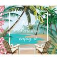 Tropical Exotic Paradise Beach vector image