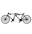 vintage silhouette tandem bicycle icon isolated vector image