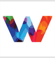 w colorful initial logo for enjoy modern funny vector image