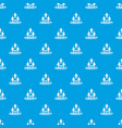 web community pattern seamless blue vector image vector image