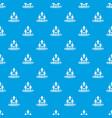 web community pattern seamless blue vector image