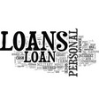 what are the various kinds of loans text word vector image vector image