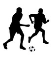 young soccer players vector image vector image