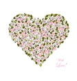 Flowers in the shape of a heart vector image