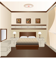 interior room with a window and a mirror vector image