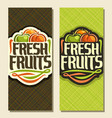 banners for set fresh fruits vector image