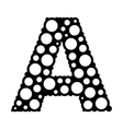 Bubble Style Letter A Logo Icon vector image