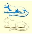 Panther emblem color version vector image