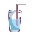 refreshment in the bottle glass to drink vector image
