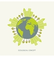 Ecologic environment concept in flat style vector image