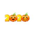 2020 pumpkins emo characters vector image vector image