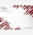 abstract of red color stripe line technology vector image vector image