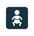 baby icon Rounded squares button vector image