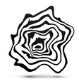 Black and white marble style abstract shape vector image vector image
