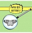 Butterfly Idea Leuconoe Paper Kite Sketch of vector image