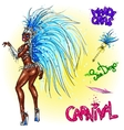 Carnival dancer isolated vector image vector image